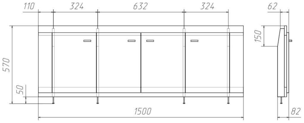 Размеры раздвижного экрана стандартного типа могут быть разными