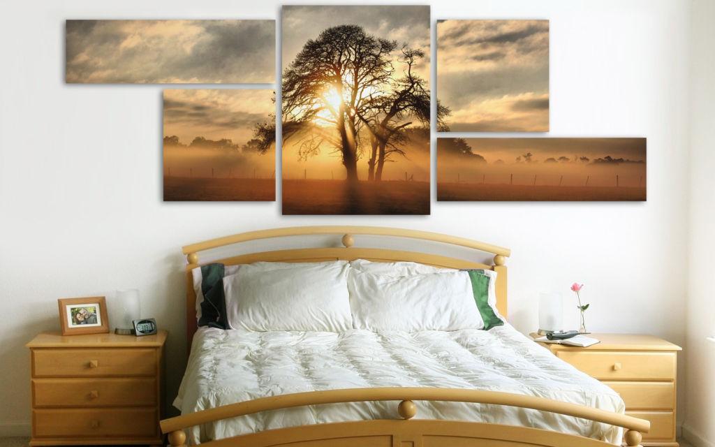 Модульные картины для спальни – один из самых выразительных элементов декора