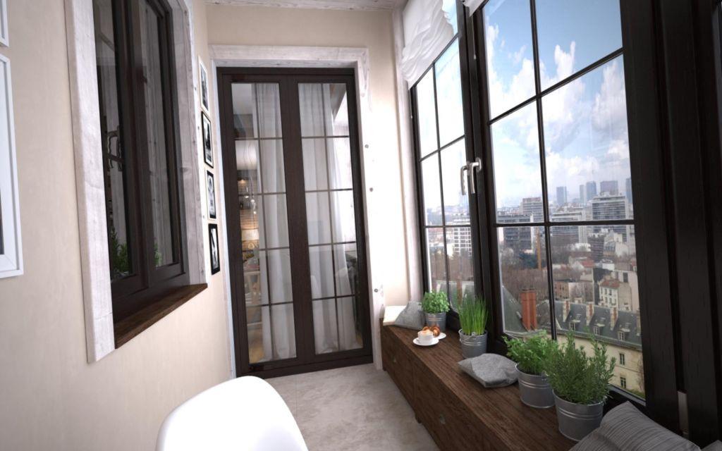 Балкон хай-тек