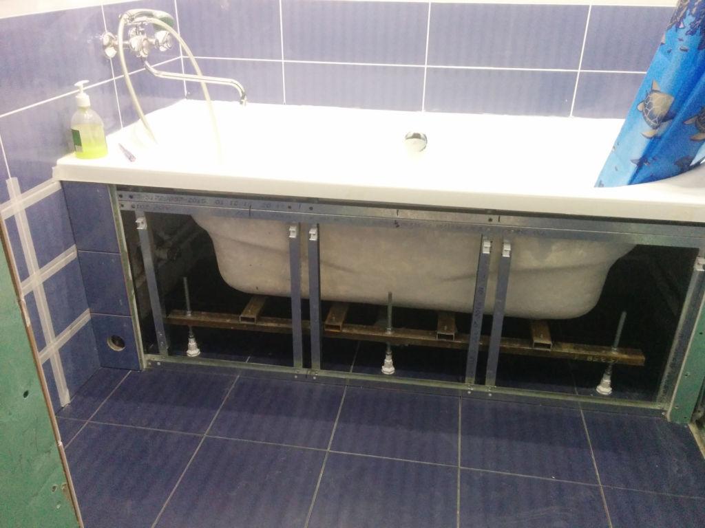Пошаговая инструкция правильной установки экрана под ванну