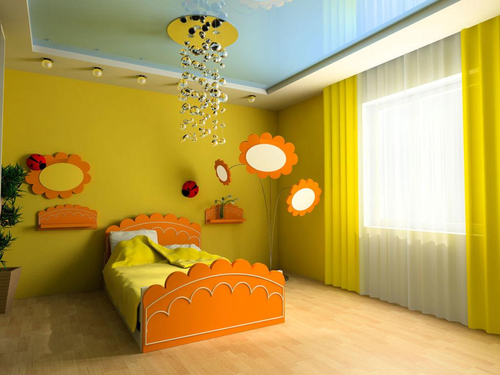 Отделочный материал для потолка в детской комнате должен быть безопасным, желательно натуральным