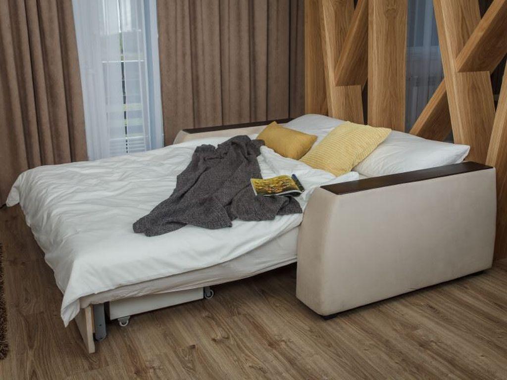 Механизм трансформации аккордеон отлично подойдет для гостиной и является достаточно недорогим и удобным