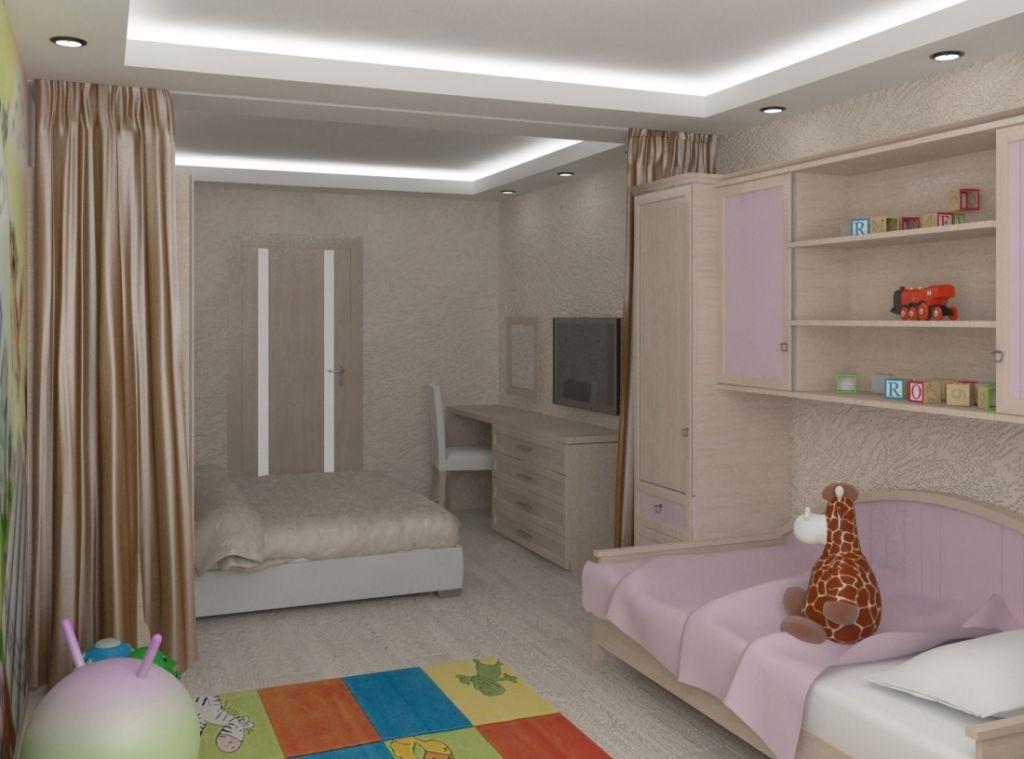 Наиболее распространенная ситуация – это необходимость создания детской и взрослой зон в одной комнате