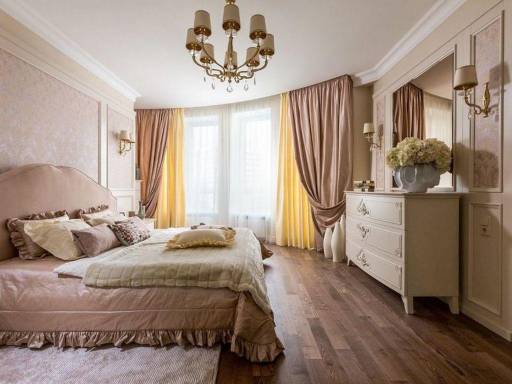 Шторы в спальне являются украшением и элементом интерьера