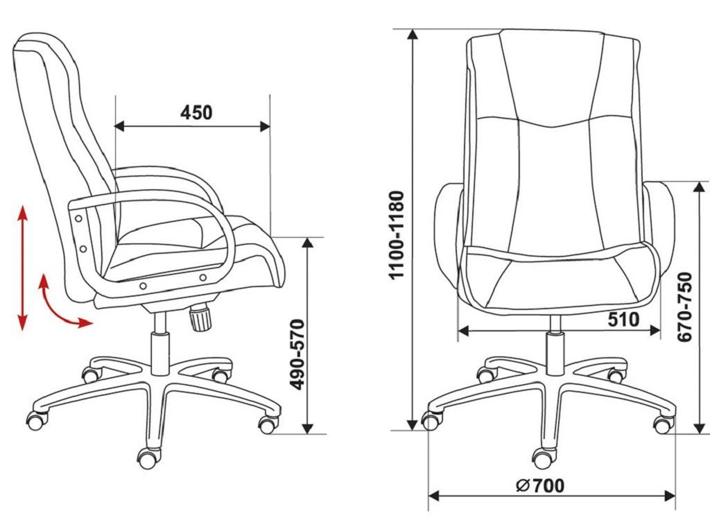 Хорошо, если это будет кресло с подголовником, подлокотниками и с регулируемой высотой