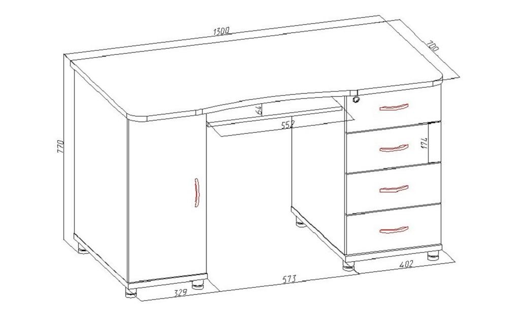 Рекомендуемые размеры рабочего стола