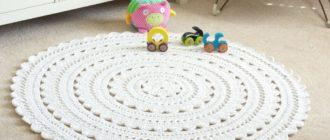 4 простых схемы для вязания детского коврика крючком